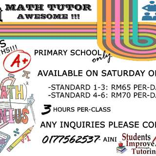 TUITION FOR SUBJECT MATHEMATIC