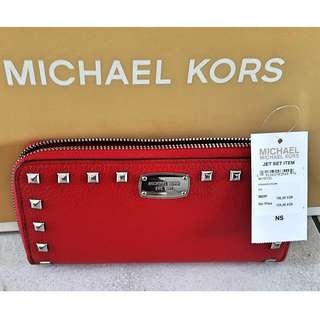 Authentic Michael Kors Red Wallet
