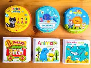 NEW Baby soft bath book set A or B 全新嬰兒洗澡書Set A or B