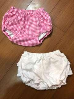 Uniqlo 60-70cm 寶寶小褲子兩件