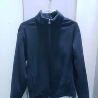 uniqlo men fleece jacket M size black