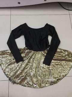 Ballerina dress(black and gold)