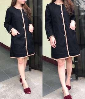 Long Coat Branded Murah GAP Black Mocca List Winter Coat Ori GAP