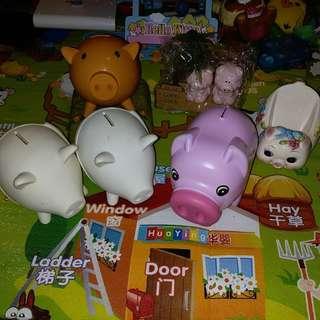 DIY 豬 錢箱 擺設
