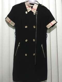 Burberry inspired with Nova Check design Black dress