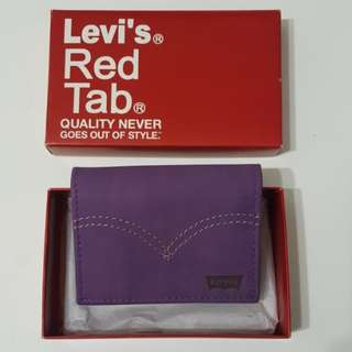 Levi's Red Tab Purple Card Holder Wallet