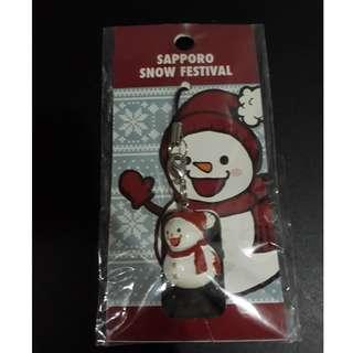 Sapporo Snow Snowman Keychain