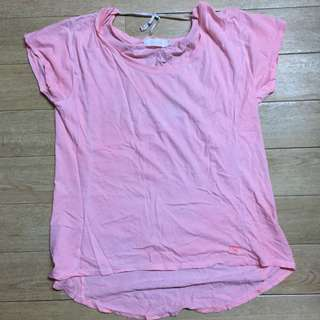 Faded pink and white tshirt