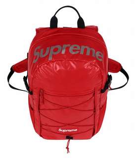 Supreme FW17 Backpack Red