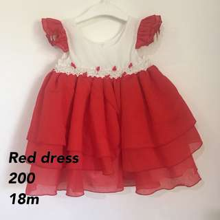 Red poofy dress