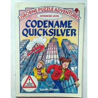 Preloved Usborne Puzzle Book - Codename Quicksilver