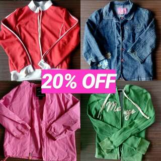 20% OFF To Preloved Jackets