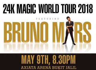 Bruno Mars concert KL - CAT 2