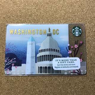 US Starbucks Washington DC Card