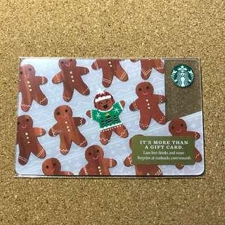 USA Starbucks Ginger Bread Card