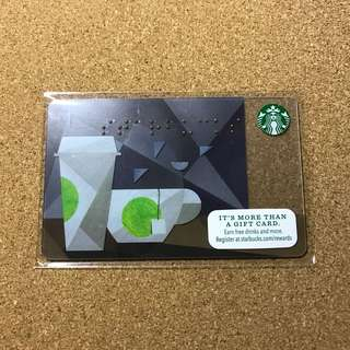 US Starbucks Coffee Cup Card