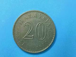 ☆☆Malaysia 20sen 1970 (keydate)