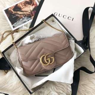 Gucci GG Marmont super mini nude color