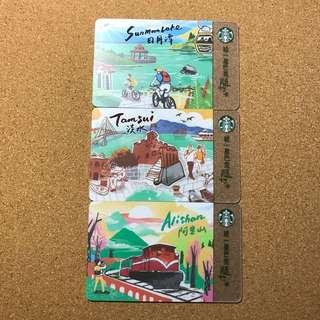 Taiwan Starbucks City Card (Sun Moon Lake, Alisan & TamSui)