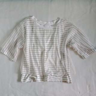 Striped Shirt with Mesh