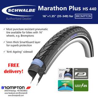 """Schwalbe Marathon Plus HS 440 (16""""×1.35""""   35-349)"""
