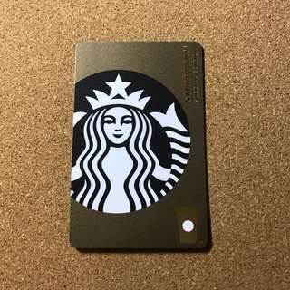China Starbucks Gold Siren Card