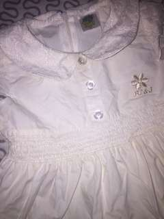 Baby dress with lace