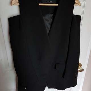 Zara Blazer with cut-out shoulders Size M