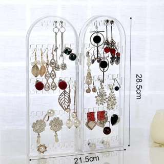 Earrings storage foldable stand