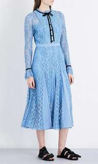 Spring Fashion Pleated Lace Dress