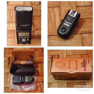 Yongnuo 560IV with RF603II wireless trigger for Nikon