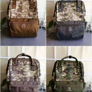 Anello Rucksack Backpack Army Print