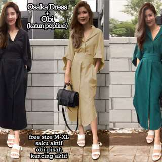 75115 osaka dress+OBI/dress murah//baju wanita murah/baju grosiran