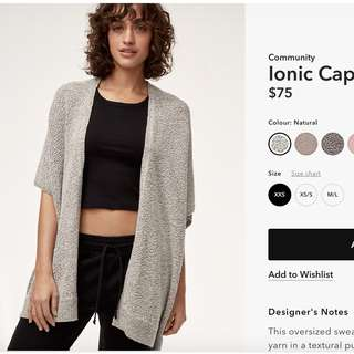 Aritzia-Community Cotton Cardigan