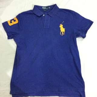 Ralph Lauren blue polo shirt Custom fit Large