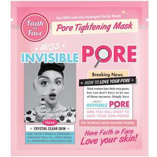 (NEW) Faith In Face Invisible Pore Face Mask Pack Of 2