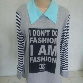Grey Collar Tunik