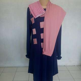New Set Tunik, Celana, Pashmina