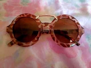 Round Leopard Sunglasses