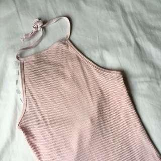 Pink halter neck top