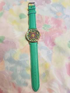Teal Tribal Print Watch