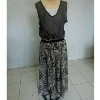 Grey Long Dress Import