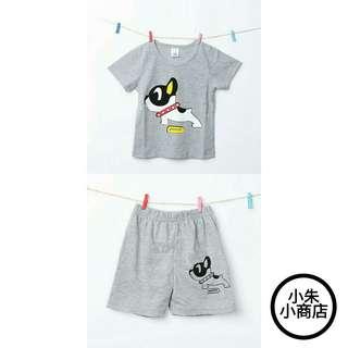 New Fashion Boys Girls Clothes Dog Pattern Cartoon Short Sleeve T-shirt+Shorts 2-piece Suit O-neck Baby Kids Clothing Set