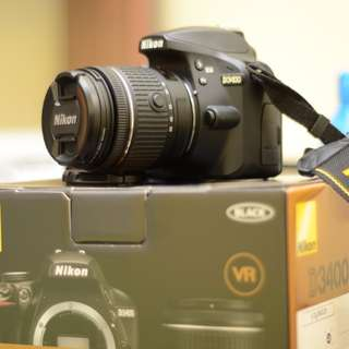 (Urgent) D3400 kit + 50mm1.8g with 3 batteries
