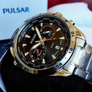 NEGOTIABLE-Brand New Pulsar Dual Time-World Function Watch