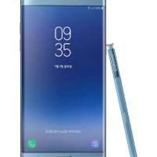 Kredit samsung Galaxy Note FE Blue proses cepat.