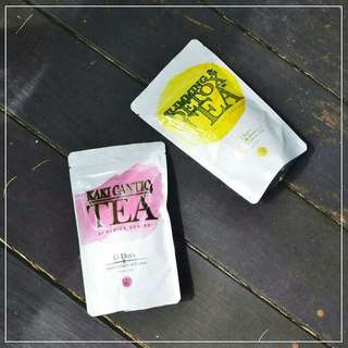 Slimming Detox Tea 1set ( Kuning & Pink )