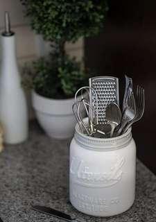 Mason jar utensils holder (brand new, never used) Modern Farmhouse Decor