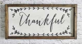 Thankful Sign (Rustic, Modern Farmhouse)