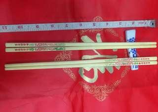 70年代百年好合象骨筷子每對